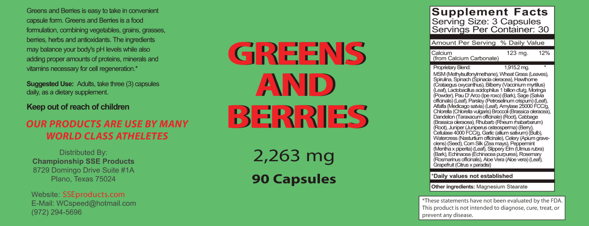 Greens Berries